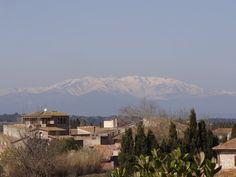 Canigou from Torroella de Fluvià on a Spring day.