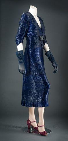 Elsa Schiaparelli dress:  Fall/Winter 1938-1939.
