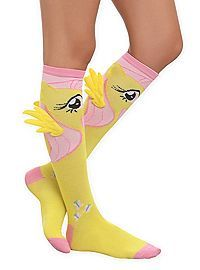 HOTTOPIC.COM - My Little Pony Fluttershy Winged Knee-High Socks