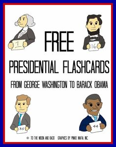 Free Presidential Flashcards and Coloring Pages