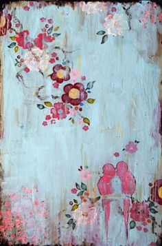 Beautiful painting by Kathe Fraga. Love the Asian influence.