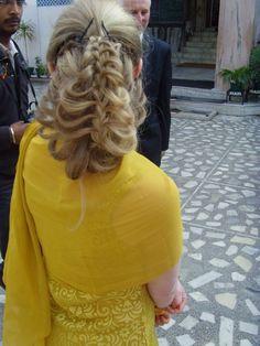 My Indian wedding hair <3