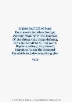 Happiness is not a standard by e.h