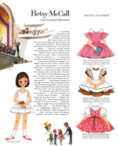 Betsy McCall Paper Doll when i was a little girl i cute these out of the magazine everymonth....* For lots of free paper dolls International Paper Doll Society #ArielleGabriel #ArtrA thanks to Pinterest paper doll collectors for sharing *