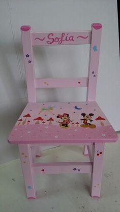 Disney con fondo rosa para Sofía