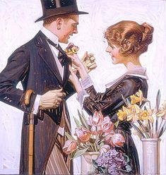 colourbomb:    The Florist, 1920  by J.C. Leyendecker  Oil on canvas
