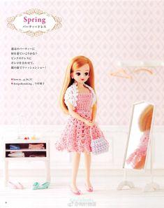 안녕하세요~^ 코코아띠에요 어제 눈이 올거처럼 잔뜩 흐렸었는데...실망스럽게도 눈이 오진 않았어요... Crochet Doll Dress, Crochet Barbie Clothes, Knit Dress, Doll Clothes, Barbie Dress, Summer Dresses, Dolls, Knitting, Mini