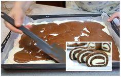 Jednoduchý a rýchly recept na čokoládovú rolku s tvarohom. Pomerne nekomplikované a veľmi chutné. Pancakes, Pudding, Ricotta, Breakfast, Food, Collage, Morning Coffee, Collages, Custard Pudding