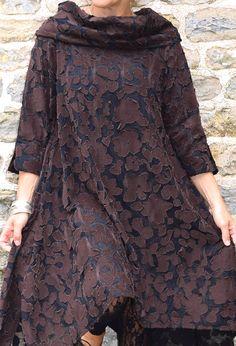 Paris Tunic, appliqued brown flower, £265.