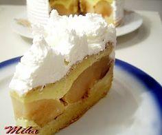 Tort cu mere si crema de zahar ars Upside Down Apple Cake, German Apple Cake, Romanian Food, Romanian Recipes, Something Sweet, Cakes And More, Cake Cookies, Cupcakes, Diy Food