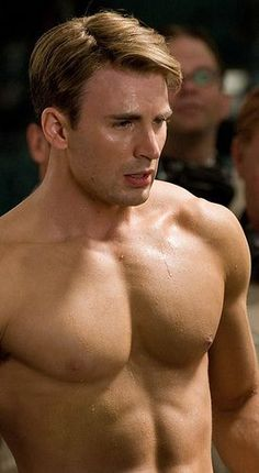Chris Evans Shirtless After Captain American Workout: