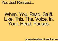only if you were taught english correctly! of course you do! it's called pausing after punctuation. *rolls eyes*