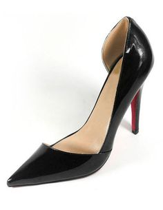 7c48c48458f Christian Louboutin Pigalle Red Patent Leather Cut-out Curve Pointed Toe  Pump