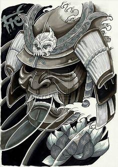 kabuki warrior tattoo - Google Search