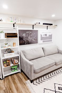 Homeschool Room Ideas, Design and Organization! How we built a homeschool multipurpose room IN our garage featured by popular Florida life and style blogger, Fresh Mommy Blog