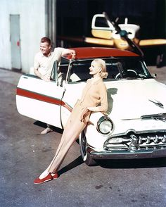 late 50's - early 60's - anyone know what car this is?  - love the image. - thanks for comment - it's a 1955 DeSoto Fireflite.