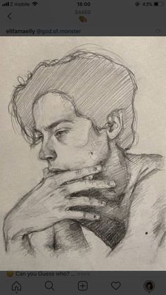 I hope to draw this well one day Pencil Art Drawings, Art Drawings Sketches, Realistic Drawings, Cute Drawings, Tumblr Drawings, Portrait Sketches, Fantasy Kunst, Art Sketchbook, Portrait Art