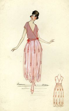 Henri Bendel Fashion Sketch from around 1917.