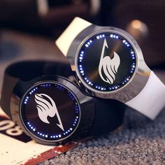 Anime Fairy Tail Guild Natsu Cosplay Watches Touch LED Silicone Watch Wristwatch