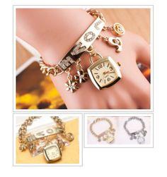 #Love Rhinestone Chain Bracelet Wrist Watch #jewelry #fashion #holiday #gift #onlineshopping http://krat.im/6w6