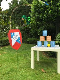 Fun games at a Medieval knights birthday party! See more party planning ideas at CatchMyParty.com!