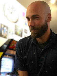 Post imageYou can find Hairy men and more on our website. Bald Men With Beards, Bald With Beard, Bald Man, Great Beards, Long Beards, Hairy Men, Bearded Men, Shaved Head Styles, Shaved Heads