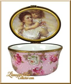 Mother  Child Rochard Studio Collection Limoges Box - Retired