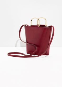Other Stories image 3 of Leather Lady Bag  in Plum
