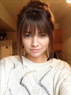 I think I might get bangs like these on my next trip to the hairdresser                                                                                                                                                     More
