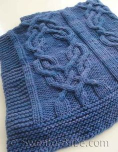 #150 Malabrigo Cabled Luxe Blanket PDF Knitting Pattern #knitting #SweaterBabe.com