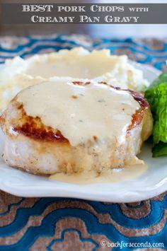 BEST Pork Chops with Creamy Pan Gravy