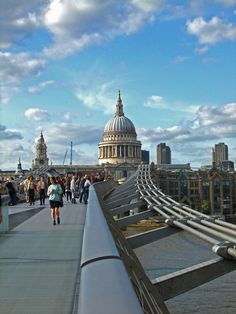 St. Paul's Cathedral from the Millennium Bridge, London - UK