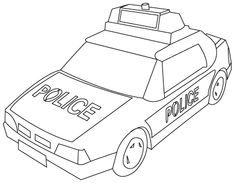 Here Is A Police Car Coloring Page