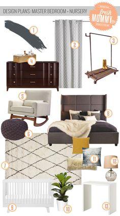 Design Plans: Master Bedroom and Nursery