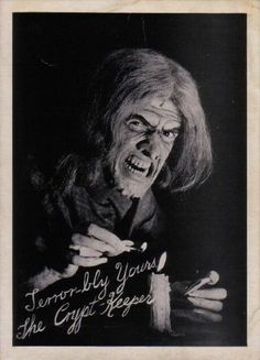 Johnny Craig in a Promotional Photo as The Crypt Keeper via EC Horror Comics Archive