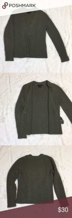 Marconi cashmere sweater Army green 100% cashmere sweater cardigan. No rips, snags or pulls. Sweaters Cardigans