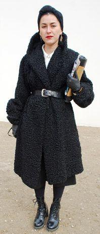 Persian lamb coat.