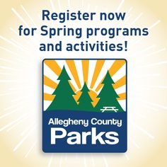 Sign up now for spring programs and events in the Allegheny County Parks! There are dozens of activities for all ages, including nature programs, fitness classes, cultural events and more. And if you're looking for a place to hold a company picnic or family get-together, you can easily book park facilities online! Plan your spring adventures now at http://www.alleghenycounty.us/parkprograms