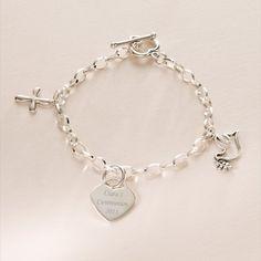 2016 Commemorative First Communion Name Bracelet for Girl - Daughter Granddaughter Niece Goddaughter Sister - Keepsake Girls Communion Bracelet with