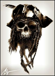 Pirate Skull by Christopher Lovell Mehr