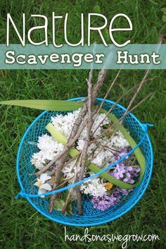 nature scavenger hunt perfect for young kids Kids Crafts Outdoor Scavenger Hunts, Nature Scavenger Hunts, Scavenger Hunt For Kids, Toddler Preschool, Toddler Crafts, Toddler Activities, Crafts For Kids, Toddler Fun, Kids Fun