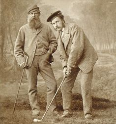 Golf Fashion Vintage A photo of Tom Morris Sr. and Tom Morris Jr. The greatest father son combination in the history of golf, 8 Open Championships between the 2 of them. Junior Golf Clubs, Best Golf Clubs, Golf Images, Golf Pictures, Golf Etiquette, Golf Photography, Vintage Photography, Vintage Golf, Golf Player