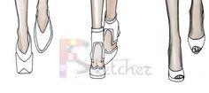 Free Online Fashion School | Drawing Feet