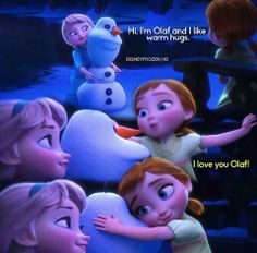 Elsa, Anna, and Olaf Disney Princess Quotes, Disney Princess Frozen, Frozen Movie, Princess Pics, Frozen Funny, Funny Animals With Captions, Funny Pictures With Captions, Disney Memes, Disney Pixar