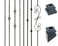 Iron Balusters - Iron Spindles - Satin Black Hollow Core- Wrought Iron Stair Balusters For Stairs Stair Railing Parts, Metal Stair Spindles, Iron Spindles, Modern Stair Railing, Wrought Iron Staircase, Metal Stairs, Modern Stairs, Staircase Design, Railing Design