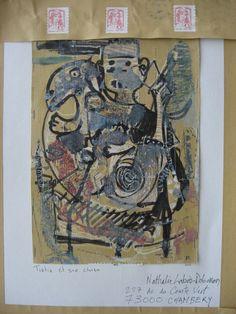 https://flic.kr/p/JJUjrH | Un mail art de Jacques Rouby dans ma boîte aux lettres, artiste peintre, MERCI #mail #letters #postage #postal #correspondence # | Sa galerie de photos  rouby.e-monsite.com/album/