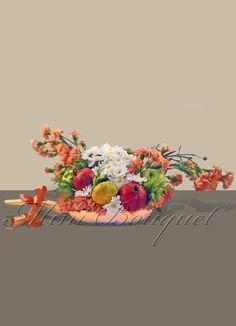 Dekoratif çiçek _ Tavada Çiçek Oturtma