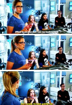 Bahahaha! Loved this part! Felicity looks so worried and Caitlyn is like nah, he does this quite often he good