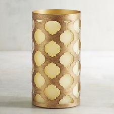 Deco Wick™ Trellis 3x6 LED Pillar Candle