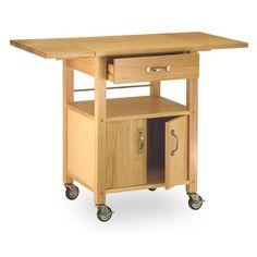 Found it at Wayfair - Basics Kitchen Cart with Wooden Top